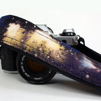 Galaxy Camera Strap, No.6,  Handpainted, OOAK, dSLR or SLR, Cosmos, Nebula