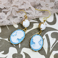 theresa indie cameo earrings - $36.99 : ShopRuche.com, Vintage Inspired Clothing, Affordable Clothes, Eco friendly Fashion
