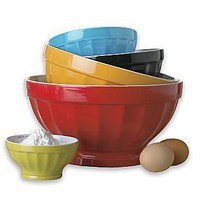 cooks 5-pc. Ceramic Mixing Bowl Set : : : jcpenney