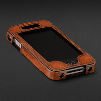 Artisan Leather iPhone® 4, 4S & 5 Covers - Chestnut