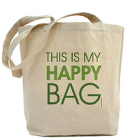 This Is My Happy Bag Custom 100 Cotton by PamelaFugateDesigns