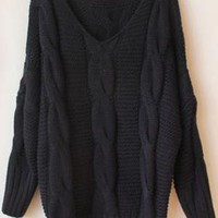 Black Batwing  Sweater  S006433