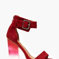 Soiree Platform - Red Suede