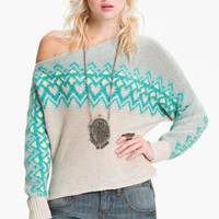 Free People Off Shoulder Ski Sweater | Nordstrom