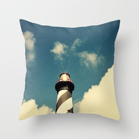 Lighthouse in the Sky Throw Pillow by Erin Johnson | Society6