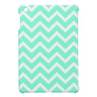 tiffany blue Chevron Pattern iPad Mini Case. from Zazzle.com