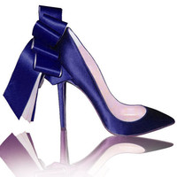 christian louboutin deep blue satin pumps CL02107 - $119.00
