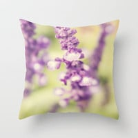 Purple Butterfly Bush Throw Pillow by Erin Johnson | Society6