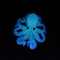 $34.00 Glow in the Dark Octopus Pendant by EmergentGlassworks on Etsy