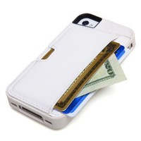 Amazon.com: CM4 Q4-WHITE Q Card Case Wallet for Apple iPhone 4/4S - 1 Pack - Retail Packaging - Pearl White: Cell Phones &amp; Accessories