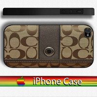 COACH Poppy Signature Wallet On Black / White Case for iPhone 5 / iPhone 4 or 4s