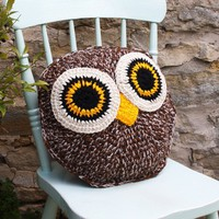 OWL CuShIoN pdf email crochet pattern by by DebiBirkinDesigns