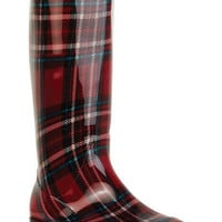 London Plaid Rainboot
