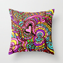 LOVE POP ART  where the colors and design jump off the page Throw Pillow by RokinRonda | Society6