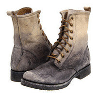 FRYE - Veronica Combat Boots in Stone Wash - Size 10