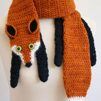 PDF Crochet Pattern for Fox Scarf - DIY Fashion Tutorial