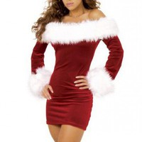 Charming Mini Dress - Christmas Santa Costume