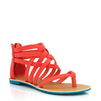 strappy-woven-sandals BLACK CORAL SEAGREEN - GoJane.com