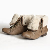 woodward shearling ankle boot - $79.99 : ShopRuche.com, Vintage Inspired Clothing, Affordable Clothes, Eco friendly Fashion