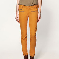 COATING WITH GOLD ZIPS - Collection - Trousers - Collection - Woman - ZARA United States