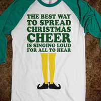 The Best Way To Spread Christmas Cheer (Elf Baseball) - Fun Movie Shirts