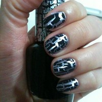 OPI Black Shatter