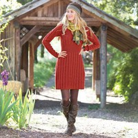 CABLEKNIT SWEATER DRESS        -                Short        -                Dresses        -                Women                    | Robert Redford's Sundance Catalog