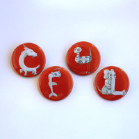 CF4L Pinback Button Set by KitCameo on Etsy