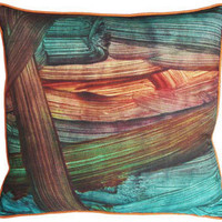 kevin o'brien finger paint pillow - multi - ABC Carpet & Home
