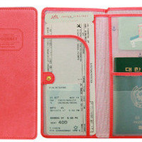 THE JOURNEY Long Passport Cover Case Wallet Pocket Holder Keeper Bag