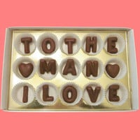 To The Man I Love Large Milk Chocolate Letters #food