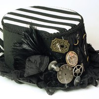 Victorian trading Co. - www.victoriantradingco.com - Striped Steam Punk Hat