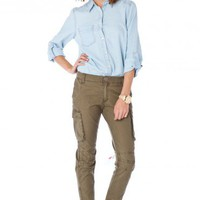Cargo Pant in Olive - ShopSosie.com