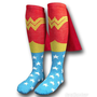 Wonder Woman Knee High Socks with Capes