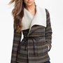 Jolt Faux Shearling Collar Blanket Coat (Juniors) | Nordstrom