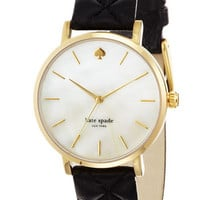 kate spade new york &#x27;metro grand&#x27; quilted strap watch | Nordstrom