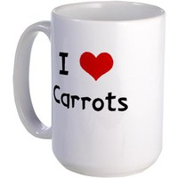 I LOVE CARROTS Large Mug on CafePress.com