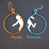 Portal Earrings Glados for gamers and geeks :)