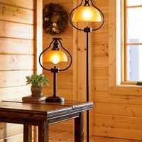 Library Lamps with Antique Bronze Finishes - Plow & Hearth