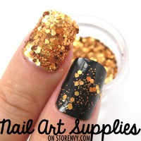 nailartsupplies | Shiny Copper - Bright Copper Bronze Raw Nail Glitter Mix 3.5 Grams | Online Store Powered by Storenvy