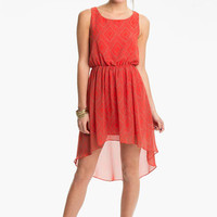 Soprano High/Low Print Chiffon Dress (Juniors) | Nordstrom