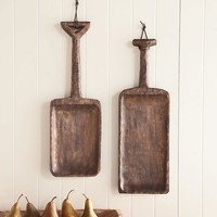 Handcrafted Hanging Wooden Shovels Wall Art - Plow & Hearth