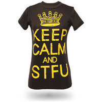ThinkGeek :: Keep Calm and STFU Babydoll