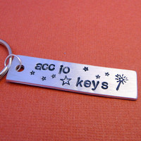 Harry Potter Inspired - Accio Keys - A Hand Stamped Aluminum Keychain