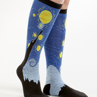 Starry Night Knee Socks | Van Gogh Socks | fredflare.com