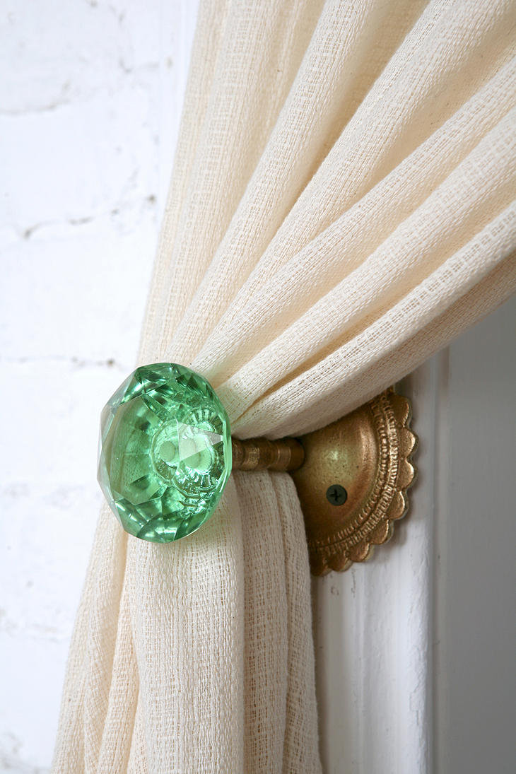 Door knob curtain tie back from urban outfitters