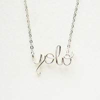 Silver YOLO Necklace - You Only Live Once Sterling Silver Black Friday Cyber Monday