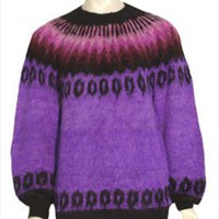 Hand Knitted Vintage Pullover Alpaca Sweater