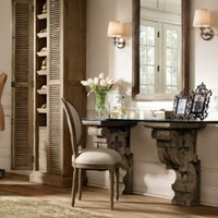 Corbel Glass Desk | Desks | Restoration Hardware