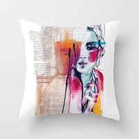 Sense V Throw Pillow by Holly Sharpe | Society6